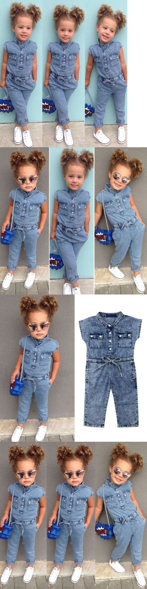 0cac4dbef Outfits and Sets 147211: Usa Canis Toddler Kids Baby Girl Denim Romper  Jumpsuits Playsuit Outfits
