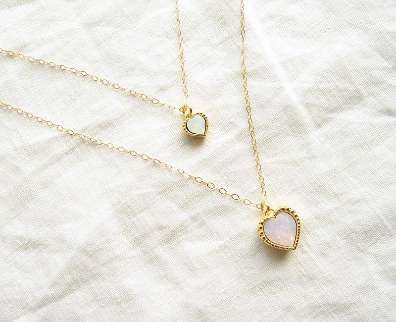 Swarovski Heart Charm on 14K Gold Filled Chain | Accessories ...