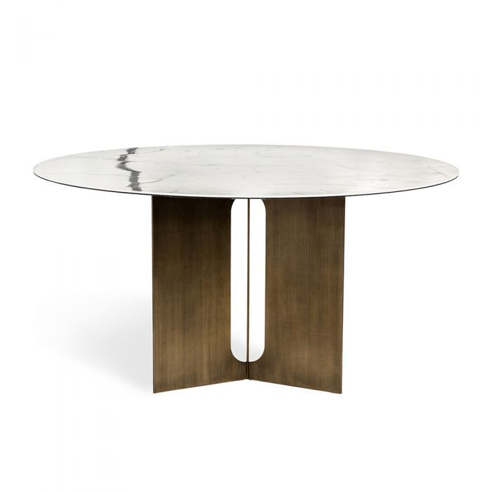 Pierre Dining Table Bronze Round Dining Table Luxury Furniture Design Dining Table