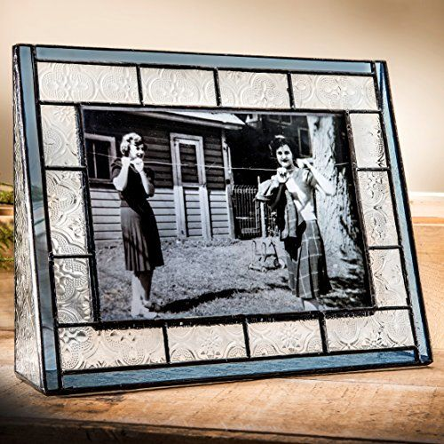 J Devlin Pic 15957h 5x7 Picture Frame Blue Stained Glass