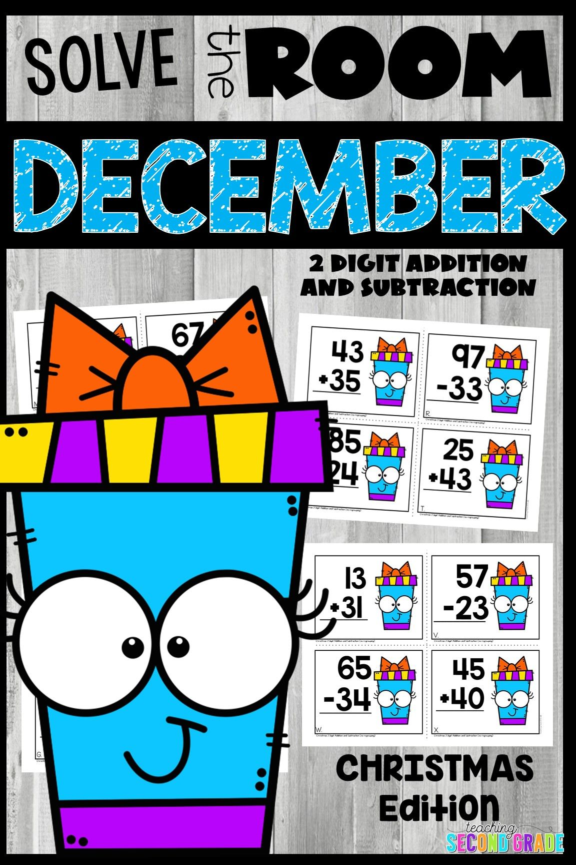 Christmas 2 Digit Addition And Subtraction