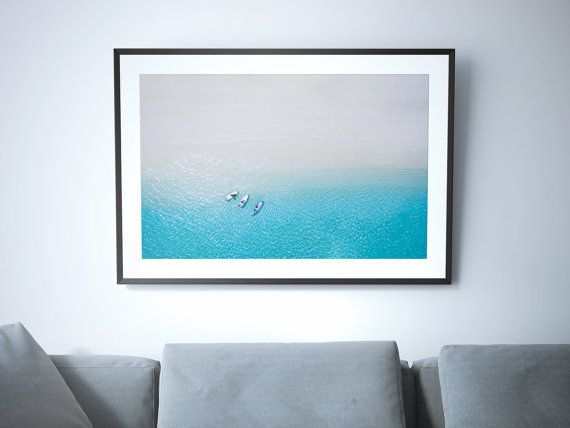 Large Aqua Beach Poster Print Aerial Beach Photography Etsy Aerial Beach Photography Beach Posters Poster Prints