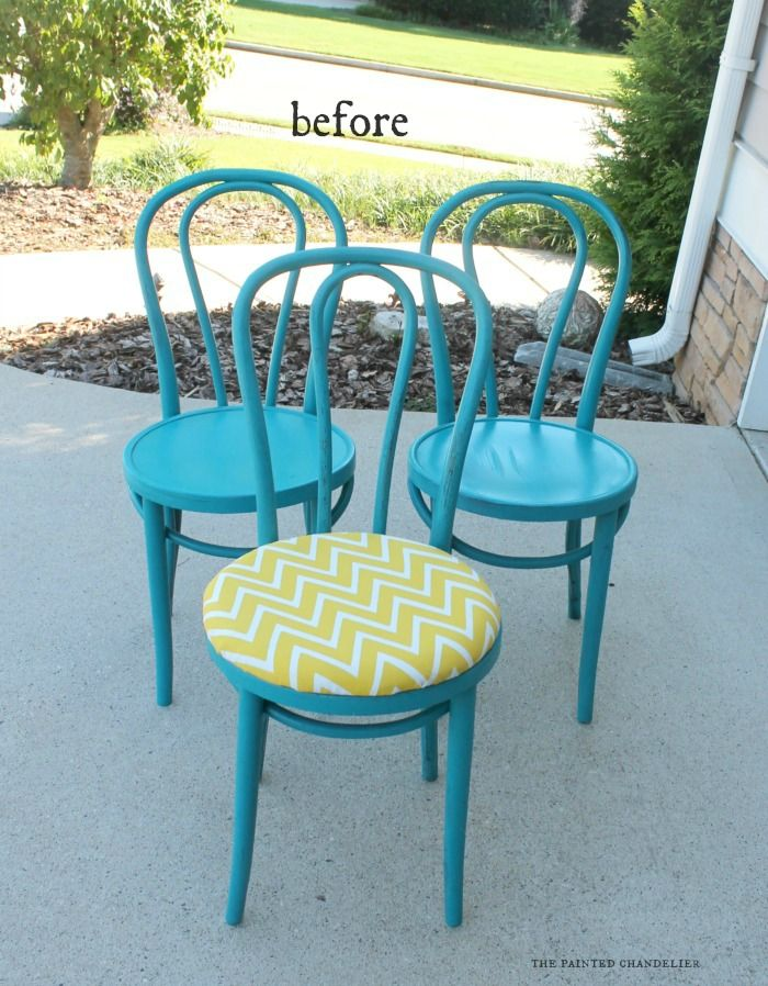 Bentwood Kitchen Chairs Makeover for Dwell With Dignity