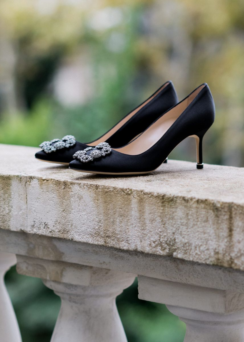 Black Manolo Blahnik Hangisi Wedding Shoes Wedding Shoes Manolo