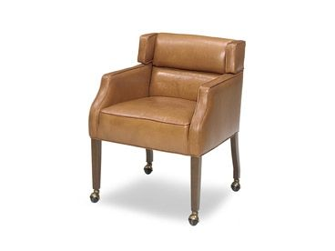 Wellingtons Leather Game Chair With Casters