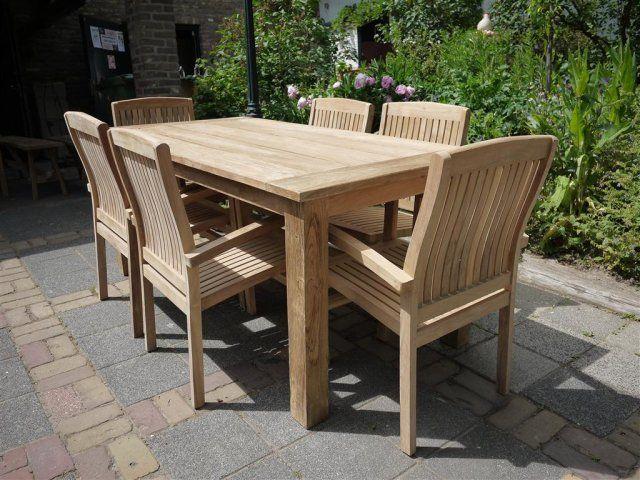 Teak Garden Table 180 X 90 Cm Garden Table Outdoor Furniture