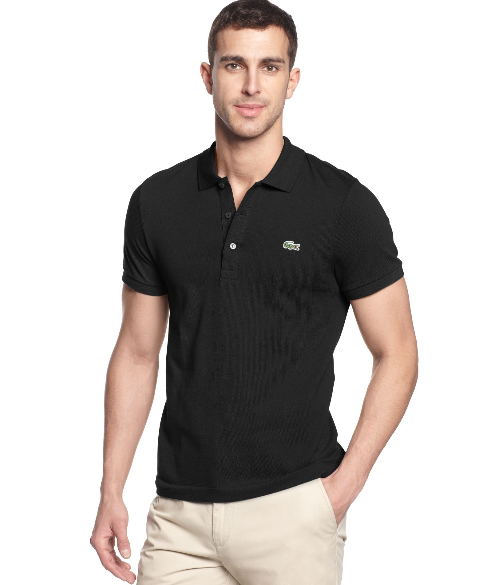 ee73d58a7844 Lacoste Slim-Fit Polo - Polos - Men - Macy s