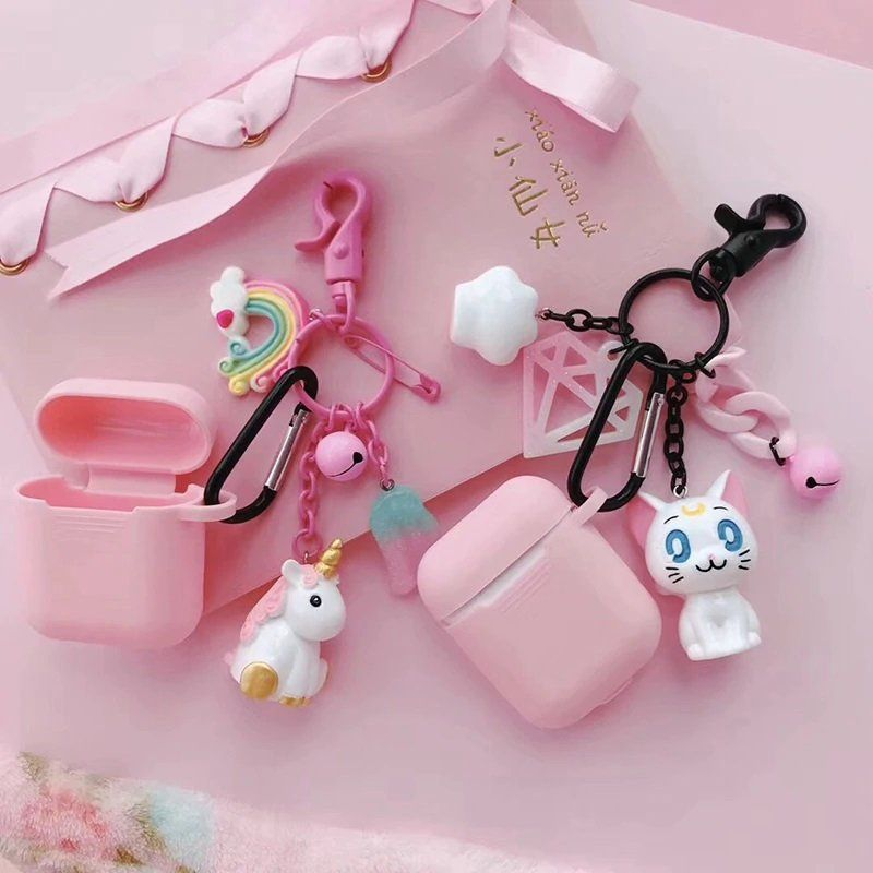 Cute Sailor Moon and Unicorn Airpod Case with Keyring