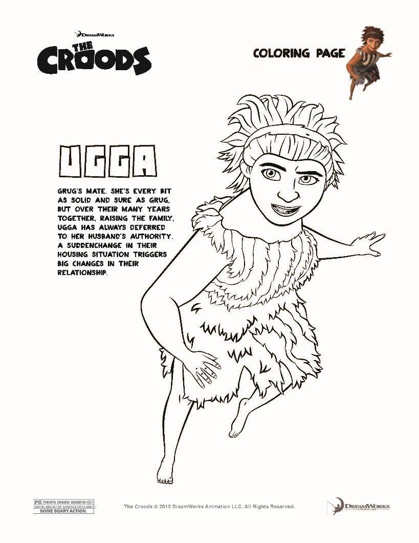 Dibujos De Los Croods Para Colorear Ugga La Primera Mama Moderna Paginas Para Colorear Dibujos Para Colorear Dibujos Faciles Para Dibujar