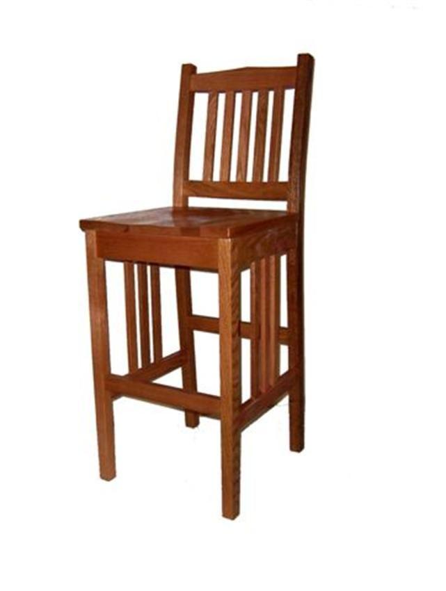 Amish California Mission Stationary Bar Stool Pub Chairs
