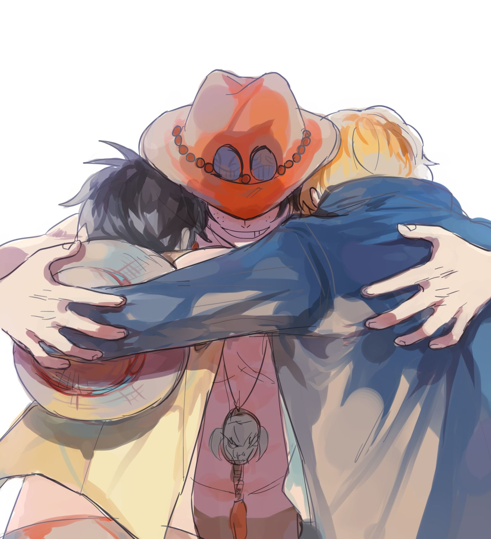 Tags: Fanart, ONE PIECE, Monkey D. Luffy, Portgas D. Ace