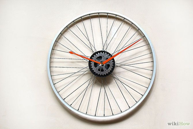 Make A Bicycle Rim Clock Bicycle Clock Bicycle Rims Diy Clock