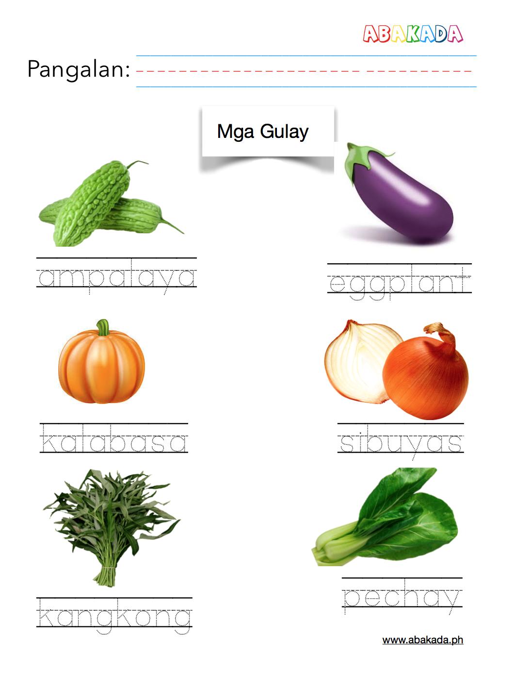 Mga Gulay Elementary Worksheets Tracing Worksheets Preschool 1st Grade Worksheets [ 1388 x 1062 Pixel ]