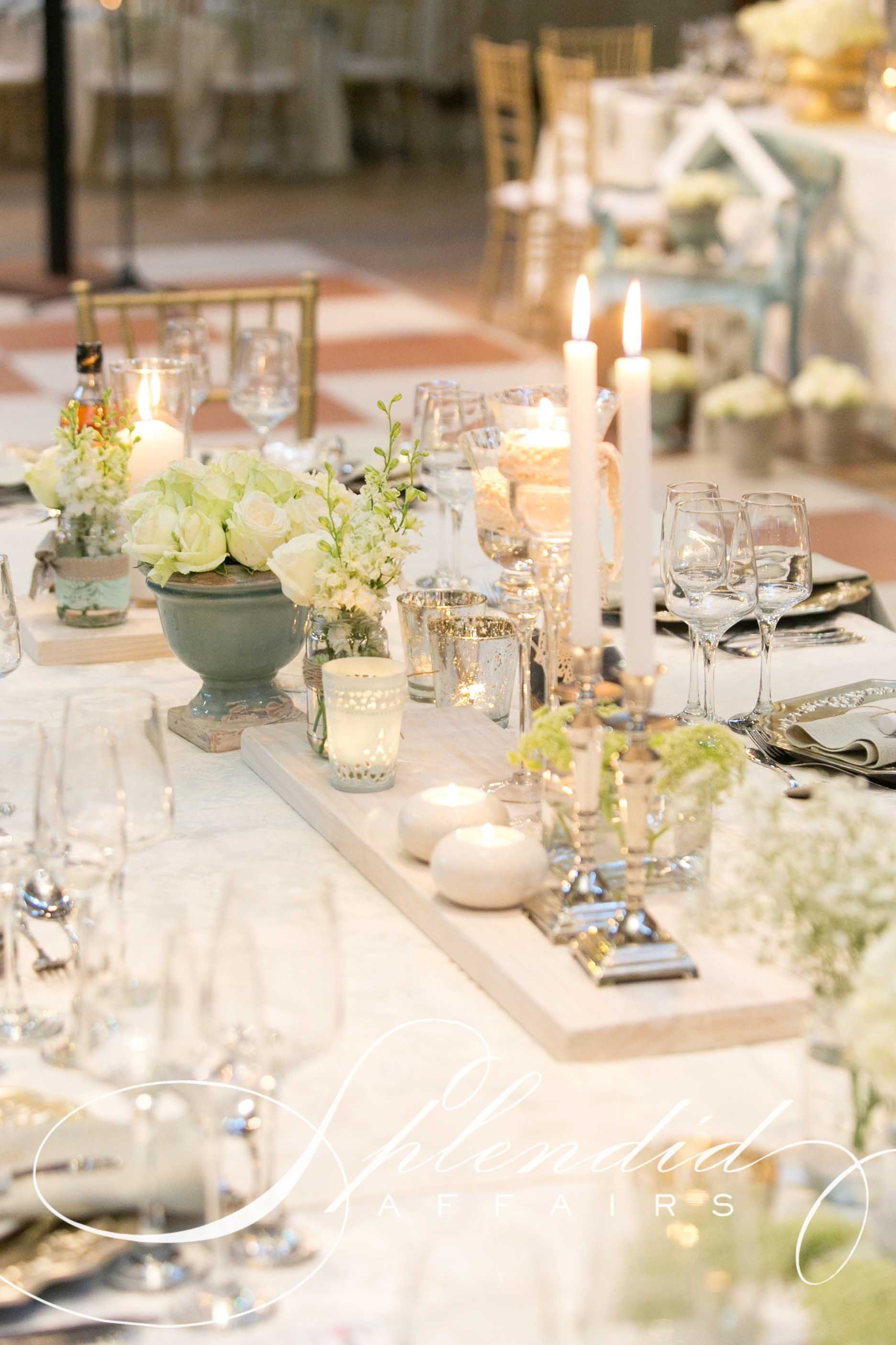 Gold White And Mint Wedding Reception With Images