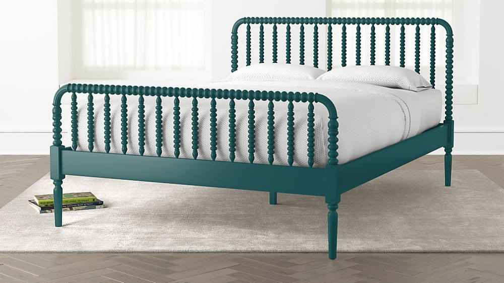 Jenny Lind Black Queen Bed + Reviews Crate and Barrel