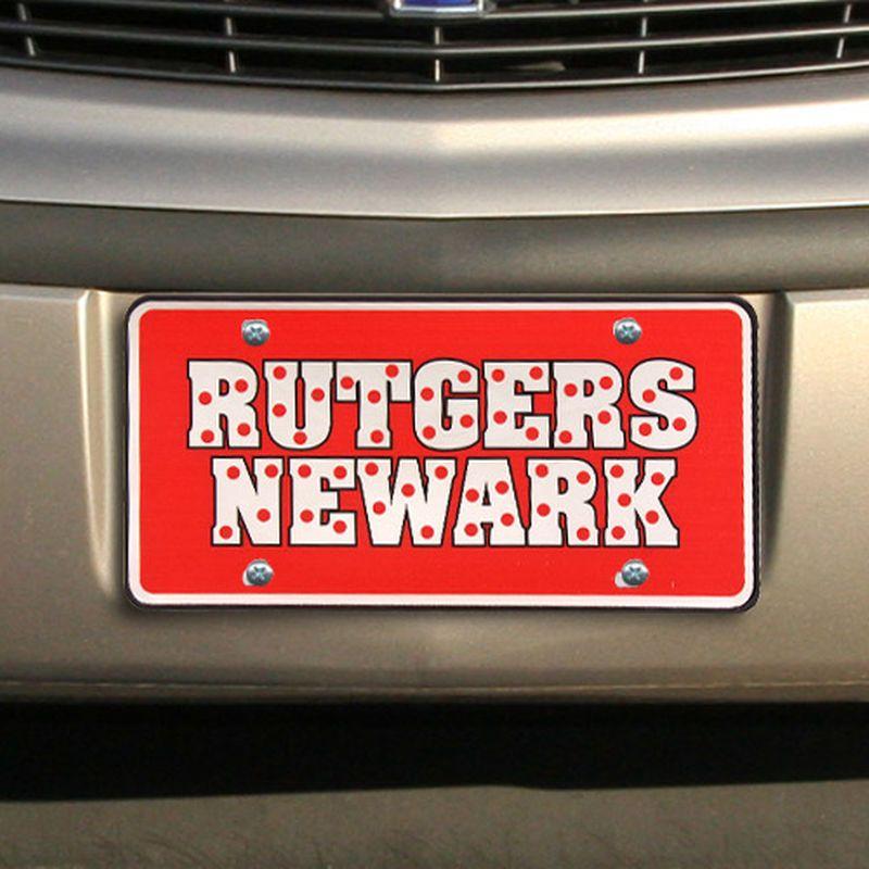 buy popular 83f05 18716 Rutgers Newark Scarlet Raiders Polka Dot License Plate ...