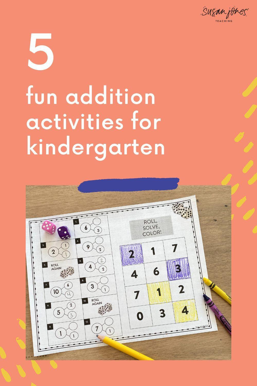 How To Teach Addition In Kindergarten In 5 Steps Susan Jones In 2021 Teaching Addition First Grade Activities Teaching How to teach addition easily