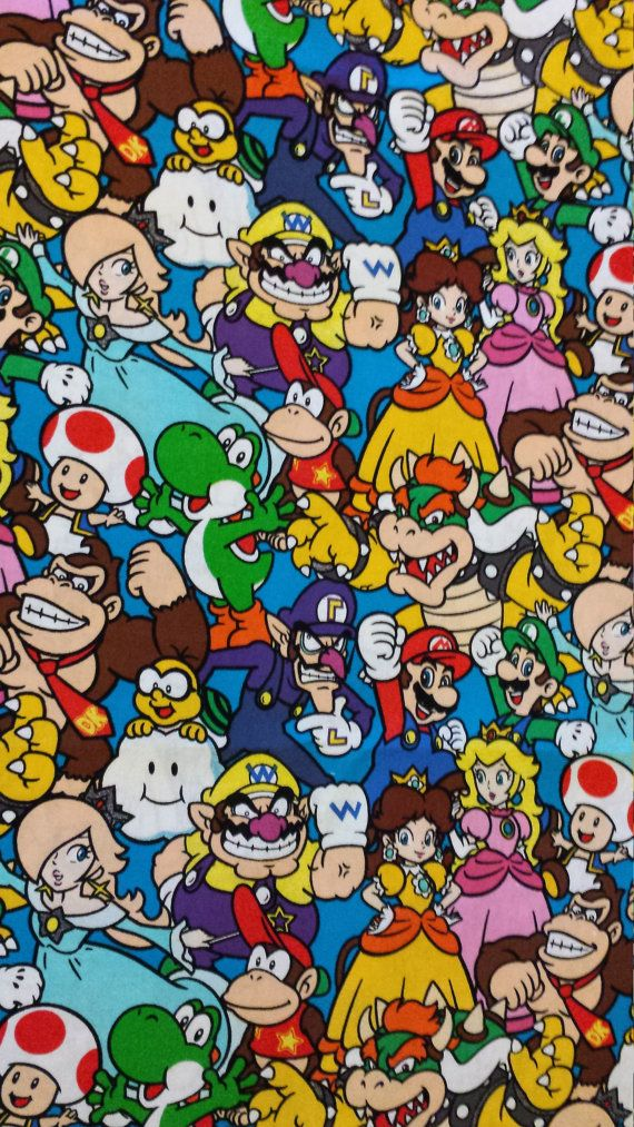 Nintendo Super Mario Cotton Crib Toddler Bed Fitted Sheet