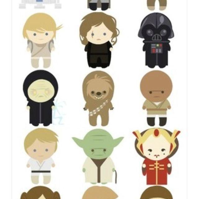 Affiche personnage de star wars enfant