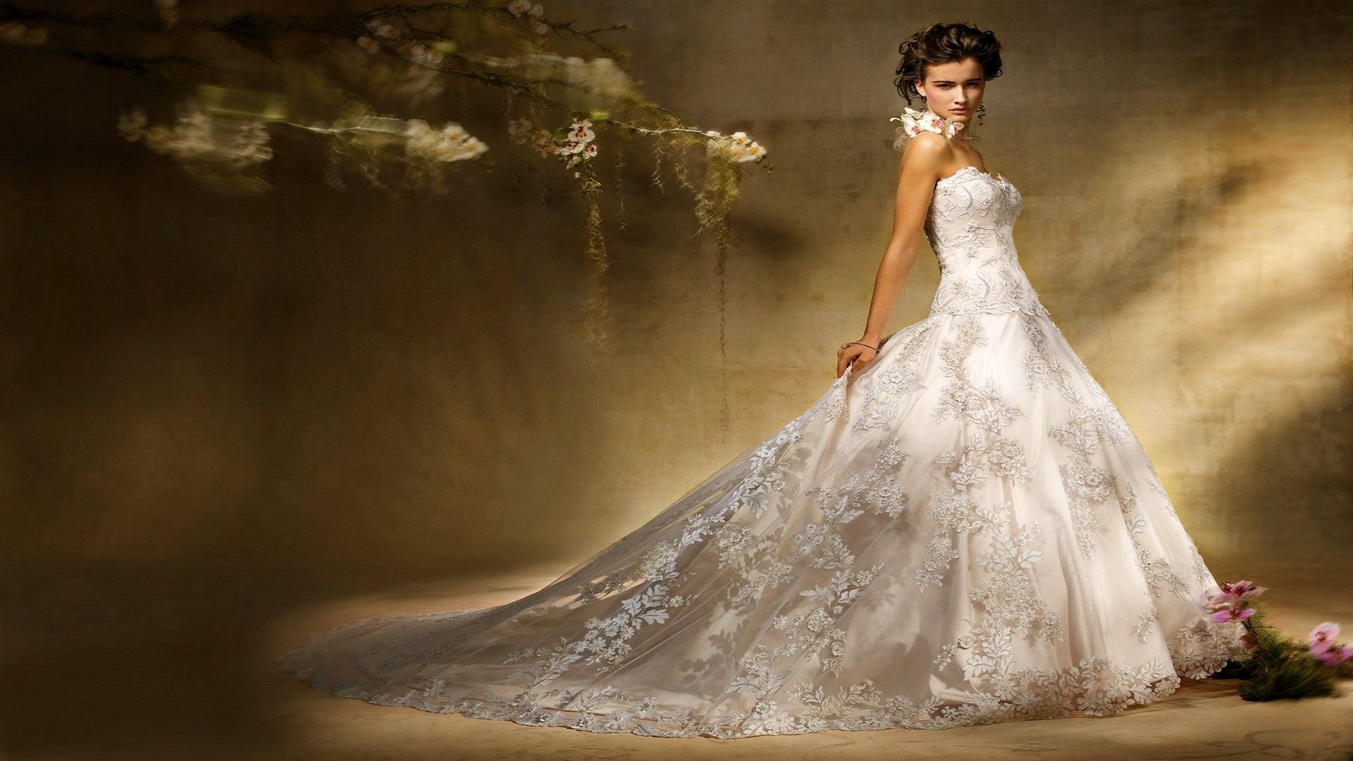 картинка фон свадебный салон невеста космос срубов