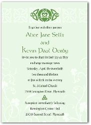 Custom irish wedding invitations printed as you wish from naptime design your own wedding invitations ireland wedding invitation sample filmwisefo