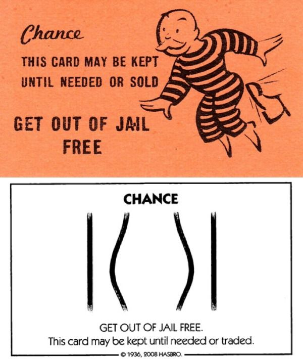 Then Now 13 Monopoly Get Out Of Jail Free Card Monopoly Cards Jail Card Templates Free