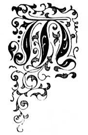 Image result for illuminated initial art nouveau