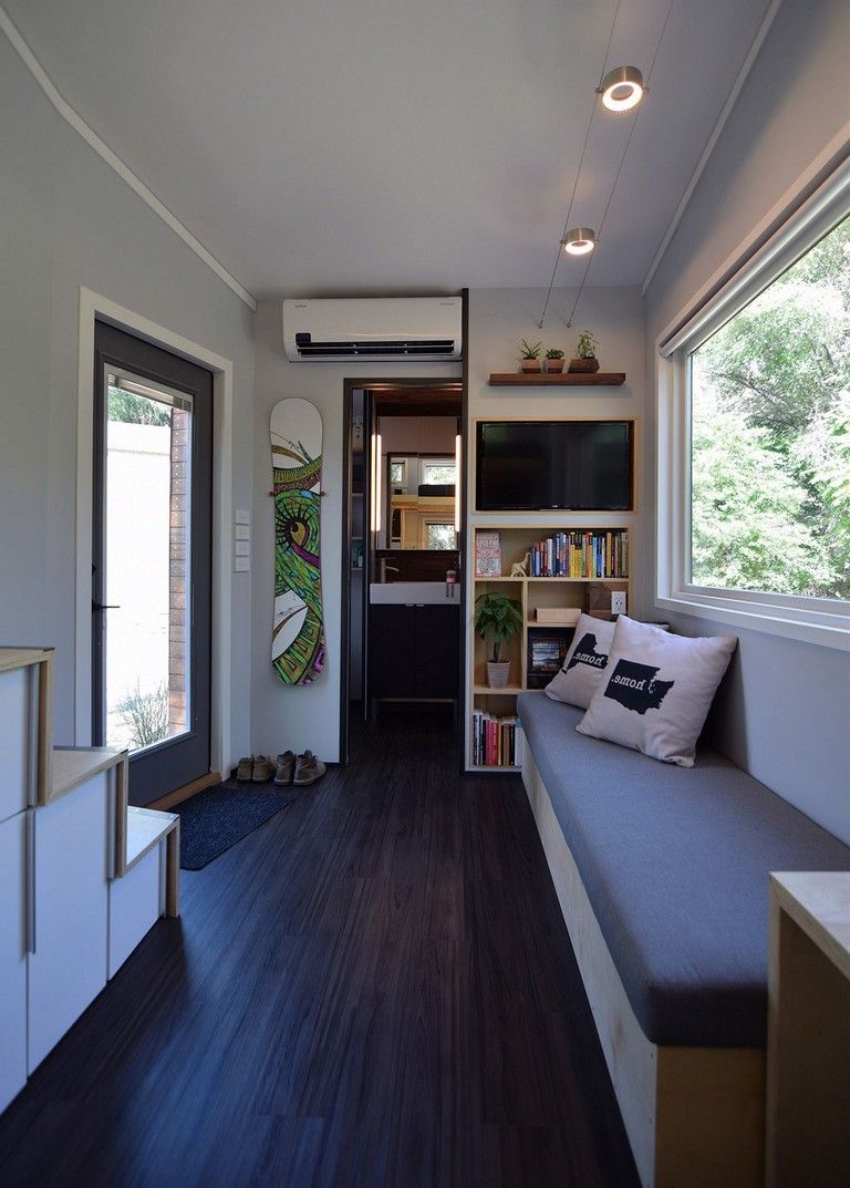 Awesome modern tiny house interior design ideas flatbed trailer home also rh pinterest