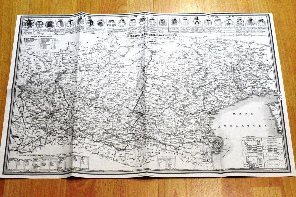 Ragno Lombardo Veneto Um 1850 Faksimile Aus Den 80er Jahren