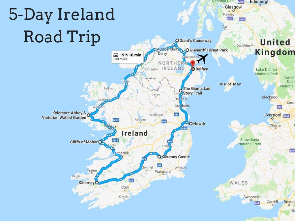 Crazy 5day ireland road trip recap road trip europe