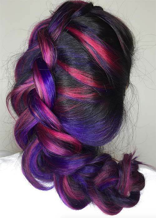100 dark hair colors: black, brown, red, dark blonde shades | dark