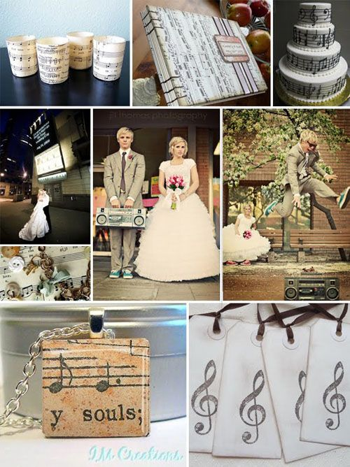 This is it how did i not think of this before music theme for such a cute idea i wish we would have stuck with more of a music theme at my wedding but we had a piano and music notes on our cake junglespirit Images