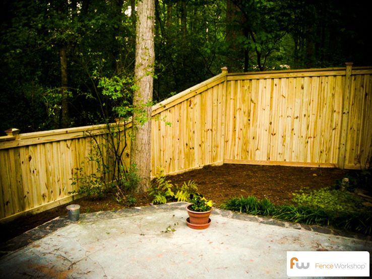 Fence Height Transition In 2019 Wood Privacy Fence