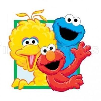 Sesame Street Big Bird Cookie Monster And Elmo Wavin Iron On Cartoon T Shirt Transfer N2772 Iron Sesame Street Sesame Street Birthday Cookie Monster Images