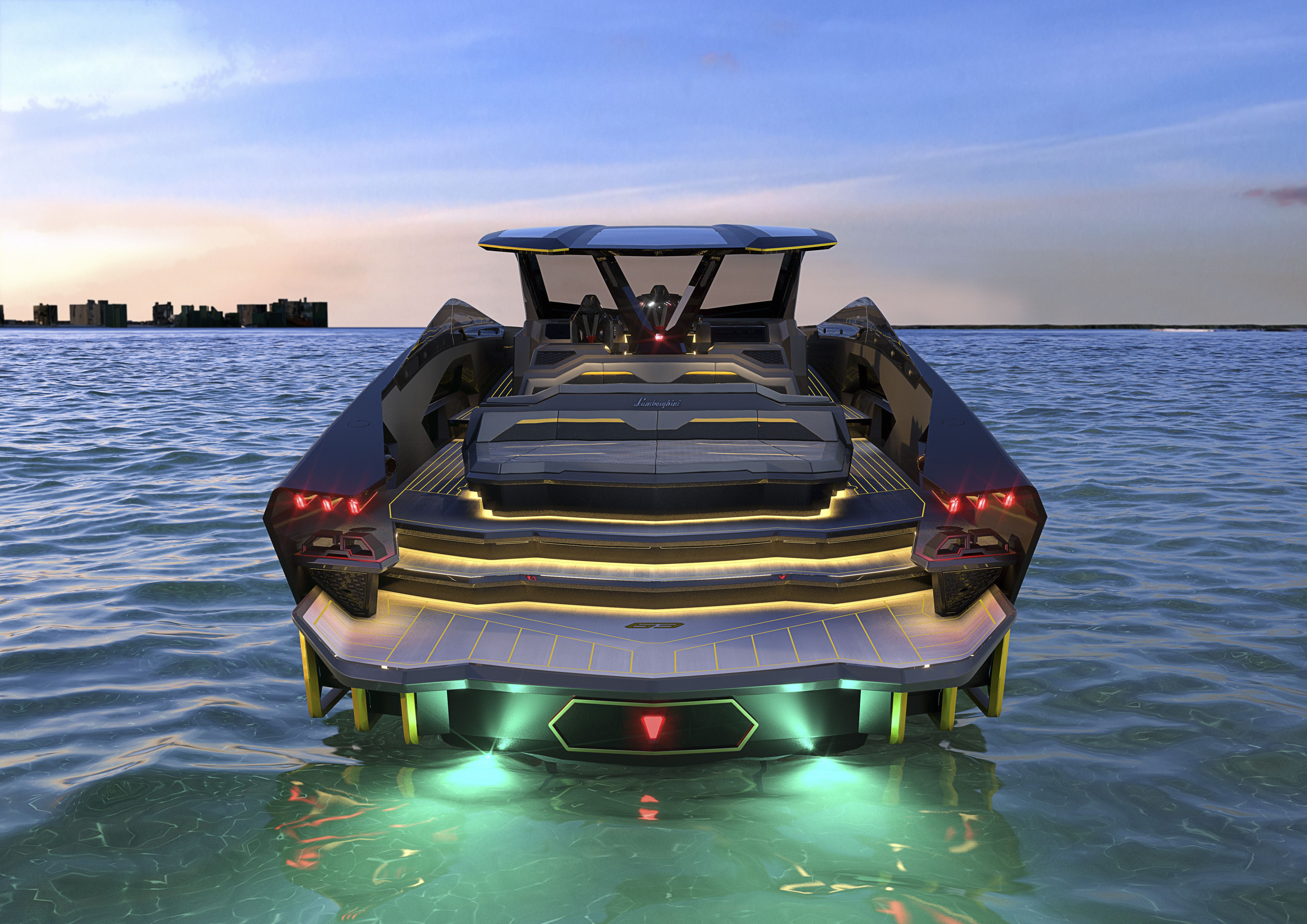 Automobili Lamborghini and The Italian Sea Group present the worldwide premiere of 'Tecnomar for Lamborghini 63', the Tecnomar fleet's new motor yacht available in a limited edition in reference to Lamborghini's 1963 foundation.   #LamborghiniYacht #CentroStileLamborghini #SeeView #TecnomarYachts #LuxuryLife #LamborghiniBoat #LuxuryBoat #LuxuryYacht #Yacht #Yachts #LamborghiniDesign #BoatLife #ItalianDesign #ItalianEngineering #LamborghiniSIANFKP37