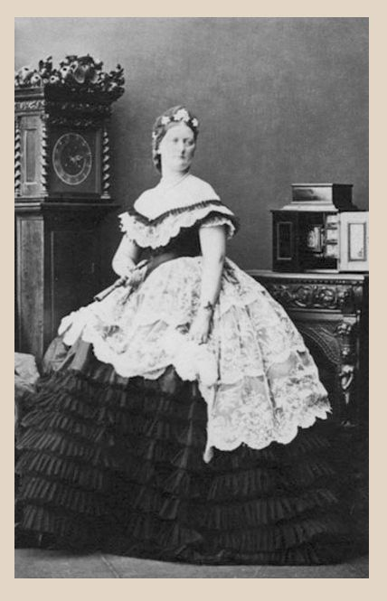 1861 (13 August) Lady Constance Henrietta Paget, the daughter of Sir Henry Paget, 2nd Marquess of Anglesey and Eleanora Campbell, who married George James Finch, 11th Earl of Winchilsea on 6 August 1846 by Camille Silvy PF detint mod