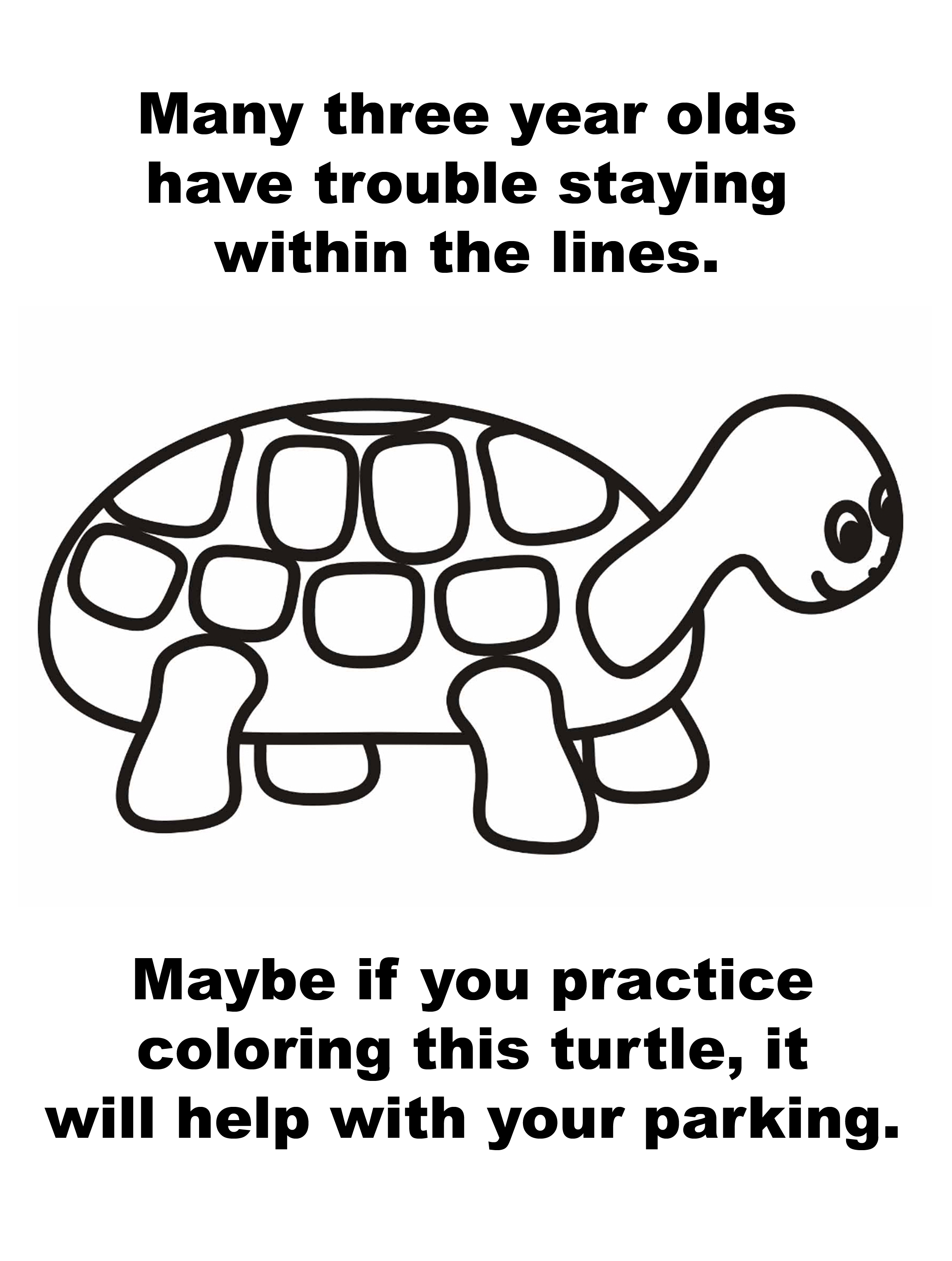 Free coloring pages for 4 year olds - Cars Coloring Pages For 3 Yr Olds Turtle Parking Coloring Google Search