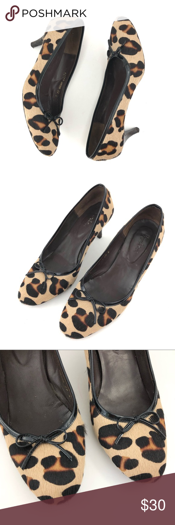07fcd66bf49e Boden leather leopard kitten heel animal pumps 39 Boden leopard animal print  pumps. Round toes
