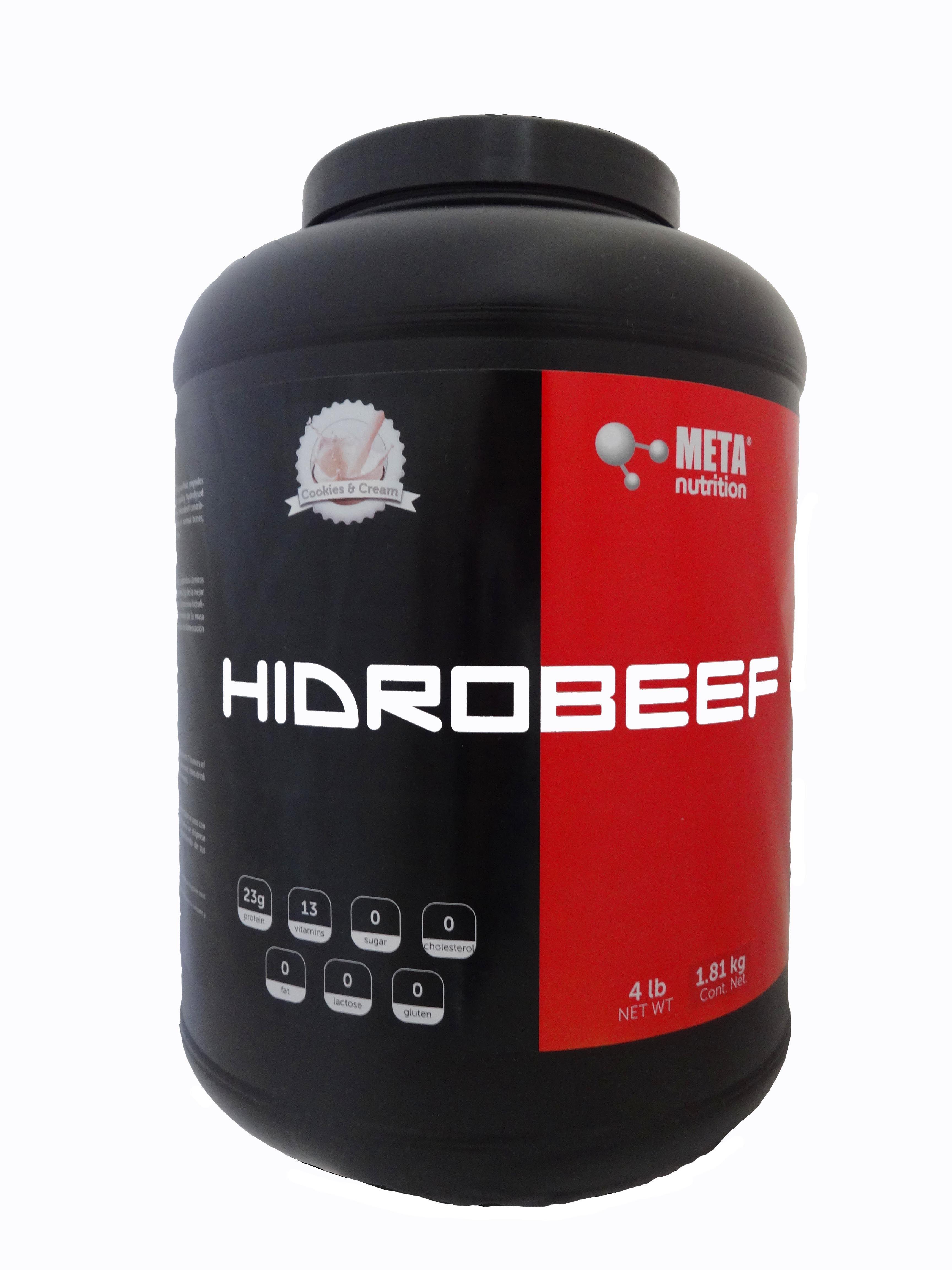 Nueva Hidrobeef 4lbs Proteina Aislada De Carne En Un Delicioso