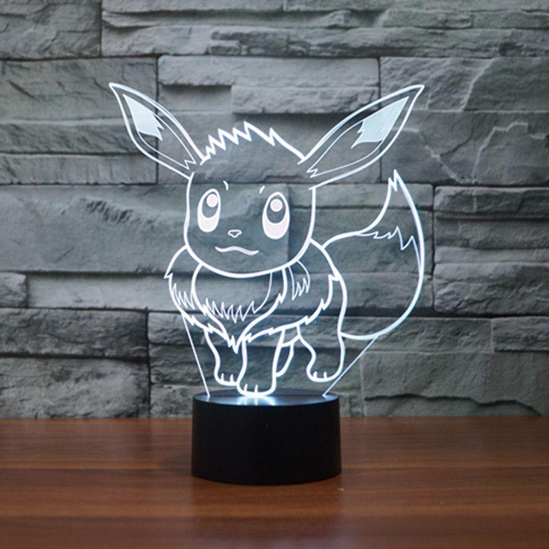 3d Design Pokemon Go Led Night Light The World Of Pokemon Go Pokemon Light Color Changing Lights 3d Illusion Lamp