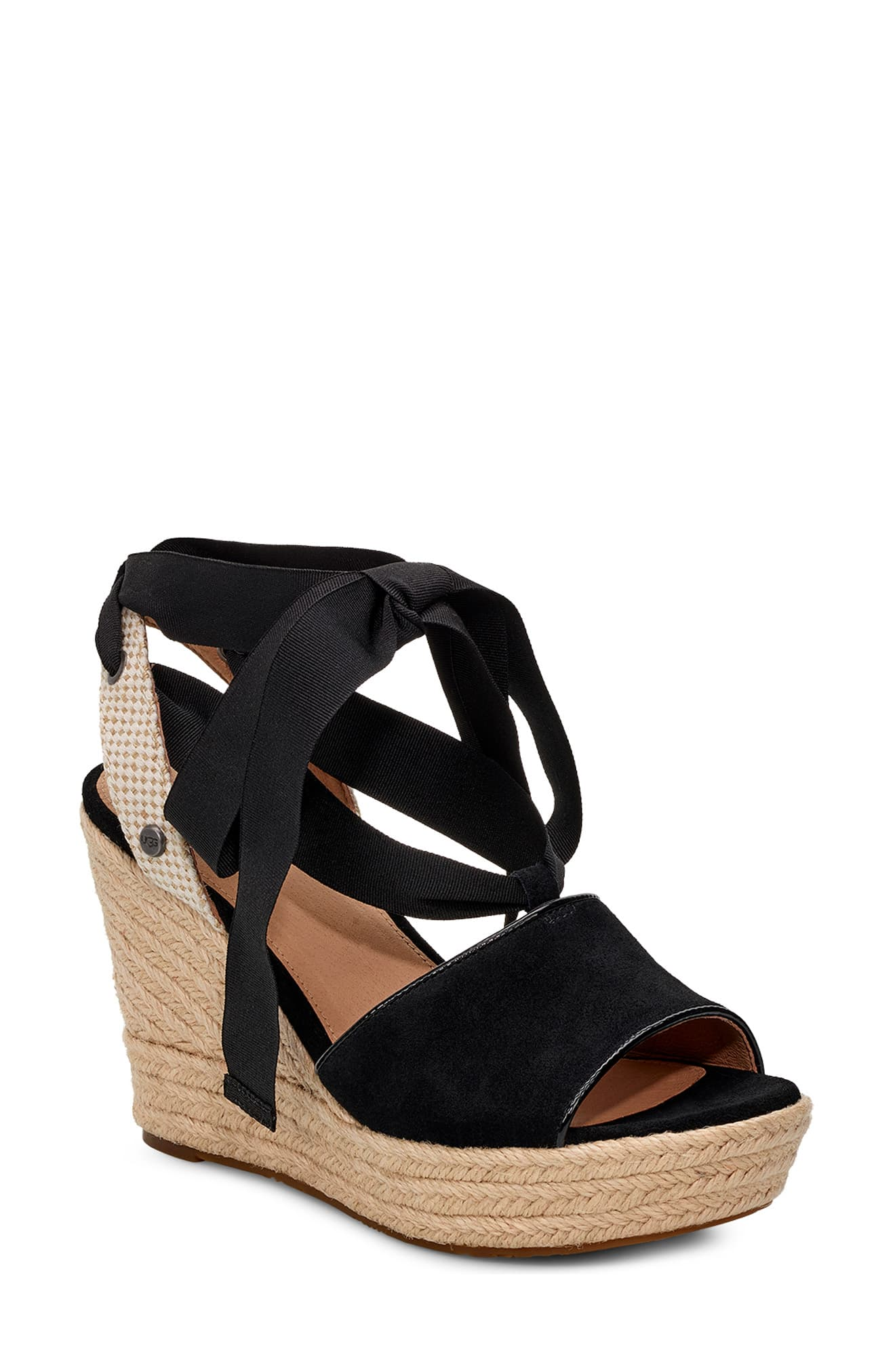 92e7cb42595 Women's Ugg Shiloh Wedge Sandal, Size 5.5 M - Black | Products in ...