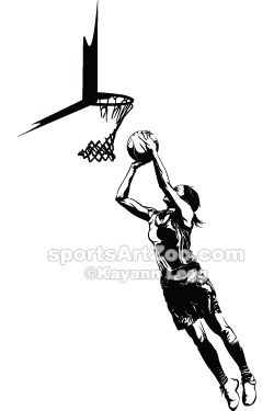 Highlighted Female Basketball Silhouette Sportsartzoo Basketball Silhouette Basketball Is Life Basketball Design