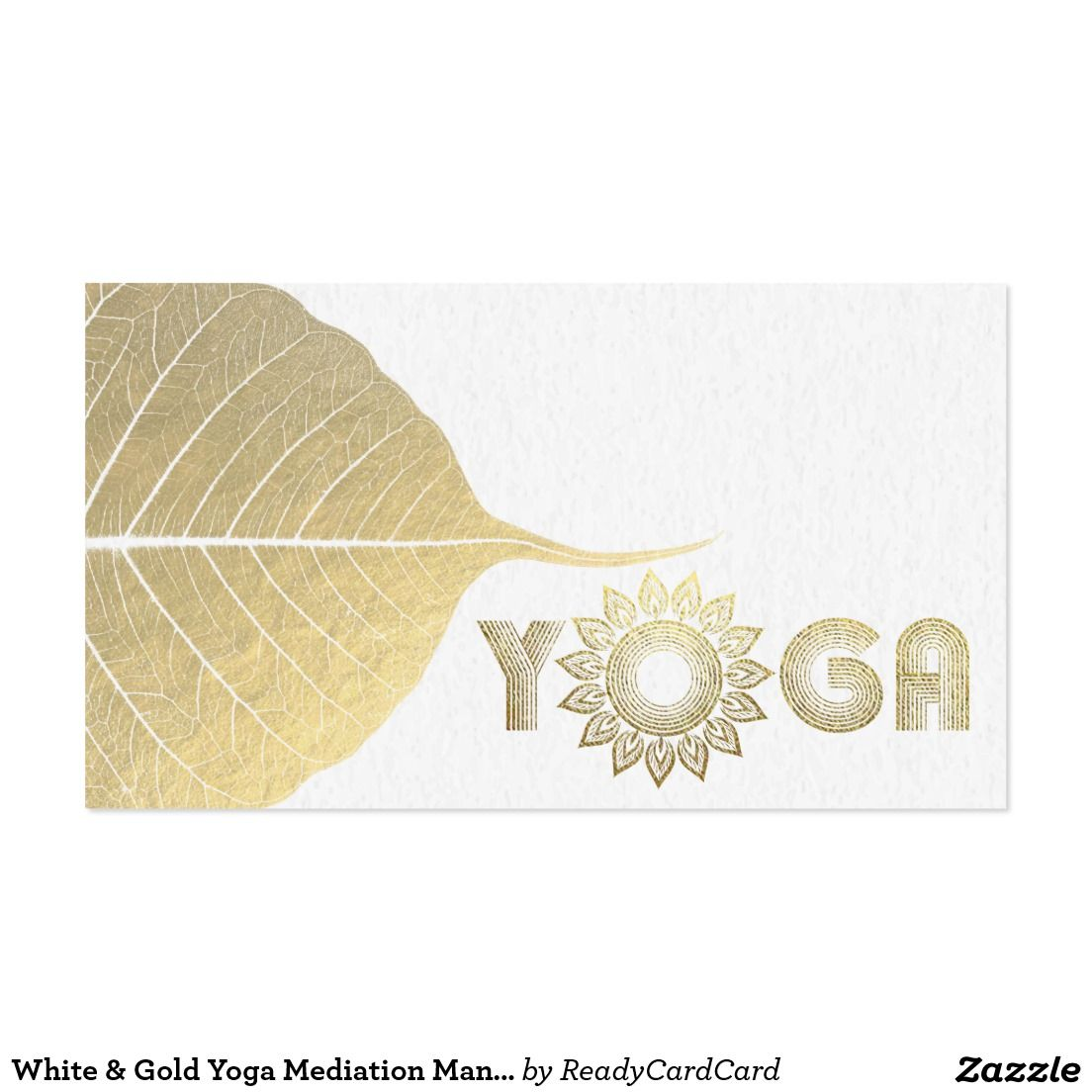 White gold yoga mediation mandala bodhi leaf business card yoga white gold yoga mediation mandala bodhi leaf business card colourmoves