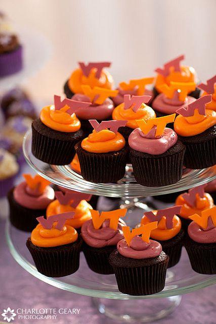 Virginia Tech cupcakes!!!!