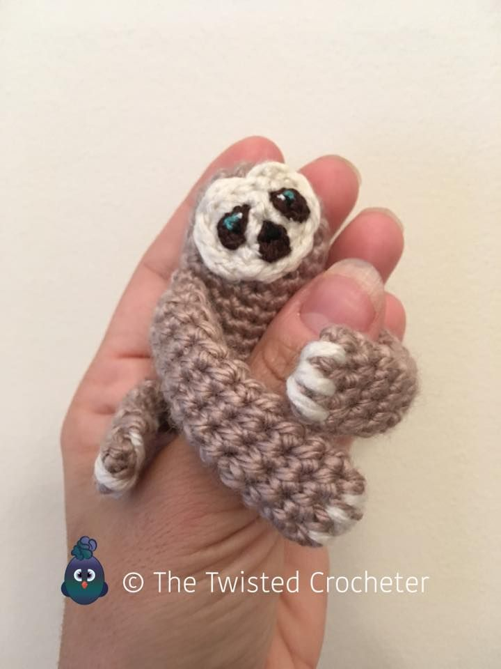 Crochet Amigurumi Baby Finger Sloth Pattern - FREE | Pinterest ...