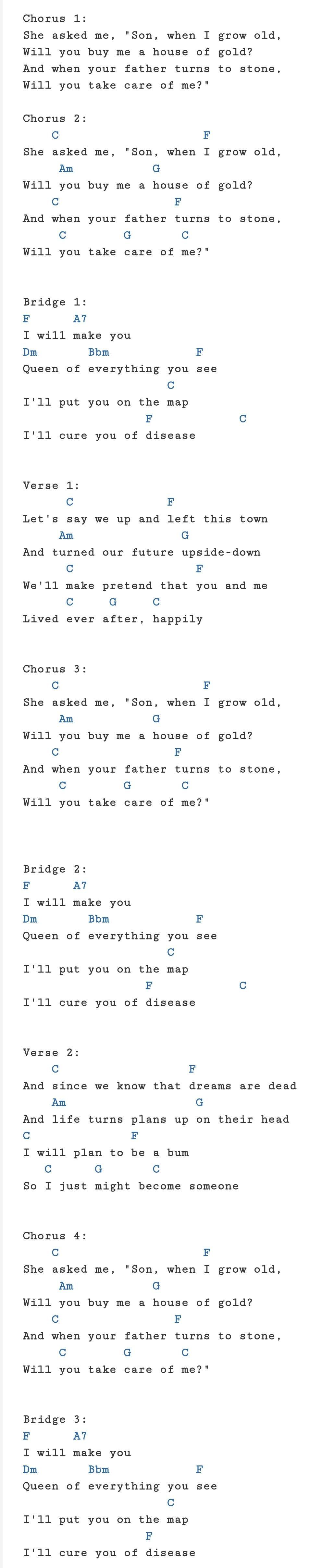 House of Gold   Twenty One Pilots   Ukulele chords songs, Ukulele ...