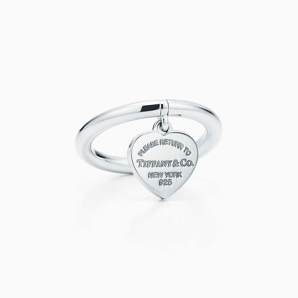 Return To Tiffany Heart Signet Ring Tiffany Sterling Silver And Ring