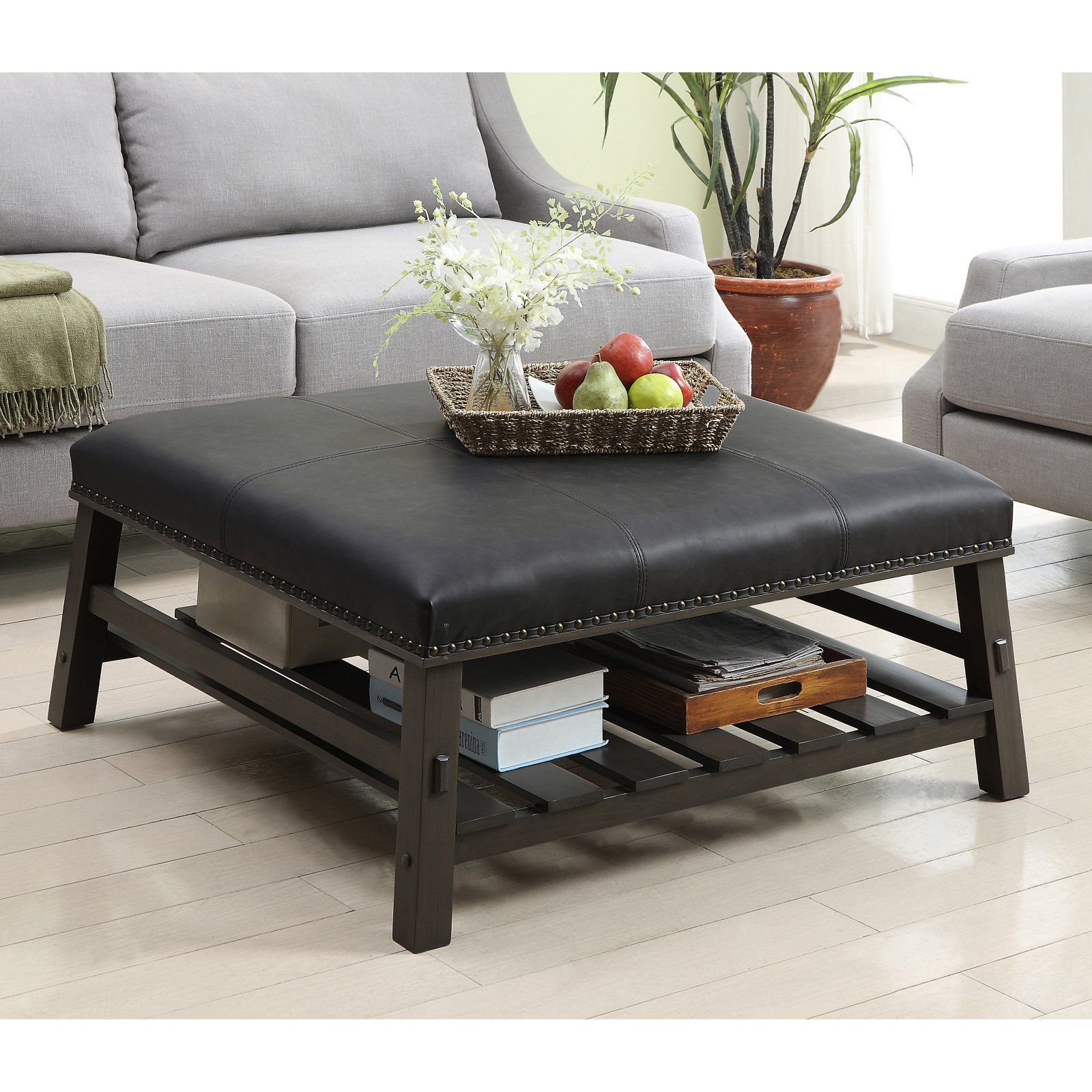 Astounding Coast To Coast Cobblestone Faux Leather Cocktail Ottoman In Cjindustries Chair Design For Home Cjindustriesco