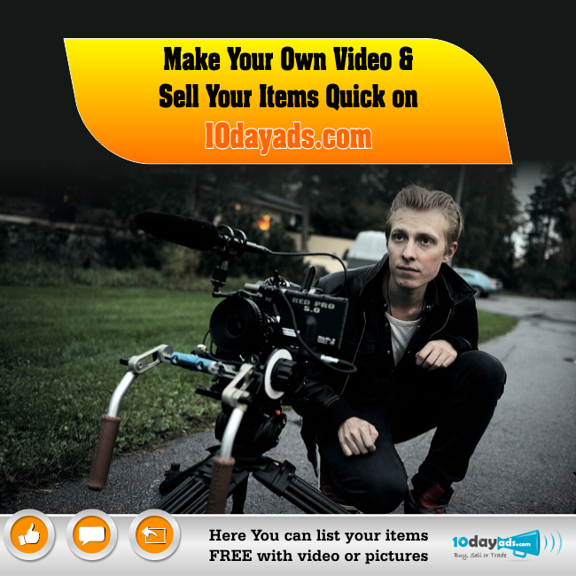 Make Your Own Videos & Sell Your Items Quick on 10dayads.com #SellingVideoAds #PromotionViaVideo