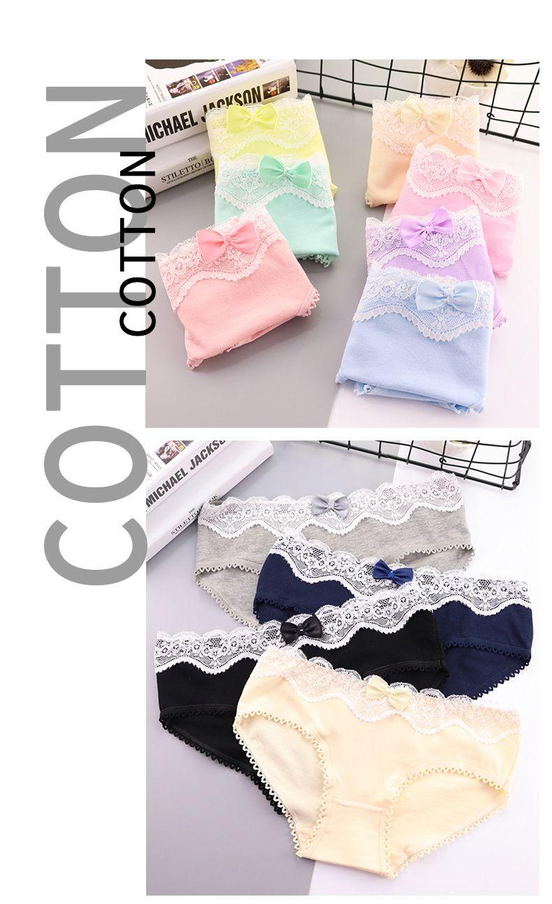 a85e58a53e31 Woman Cotton Cute Underwear Pure Cotton Vintage Lace Edge - Buy 100% Cotton  Girl Cartoon